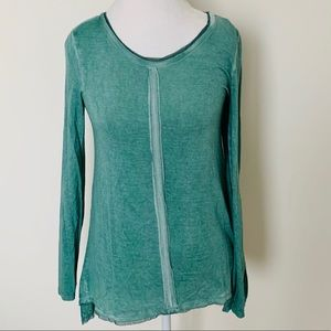 NWT!  Max Jeans green long sleeve top size XS